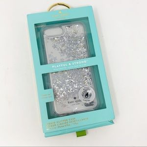 Kate Spade Liquid Glitter Star IPhone Case 8 Plus
